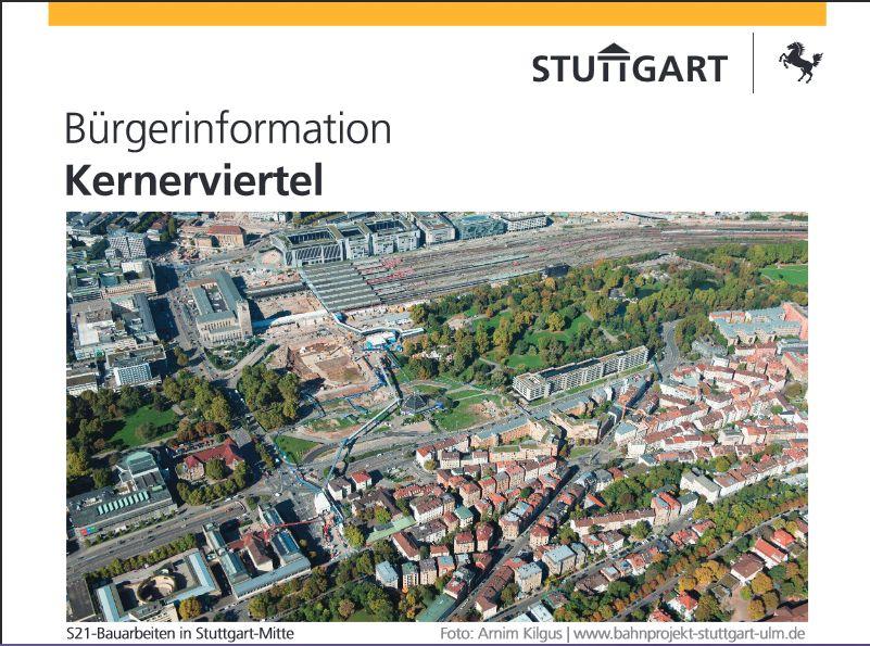 S Bauarbeiten in Stuttgart Mitte