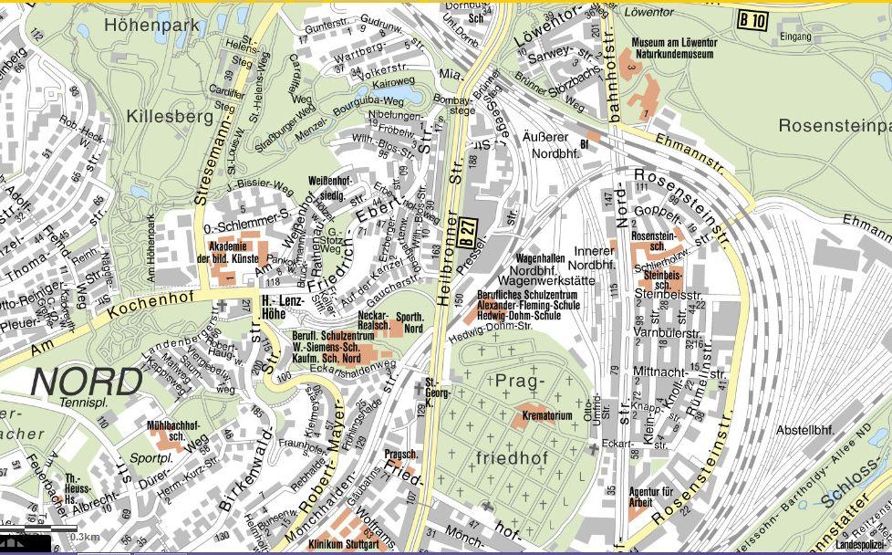 Stadtplan Nord
